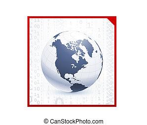 Globe on corporate elegance background