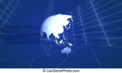 Globe on grid