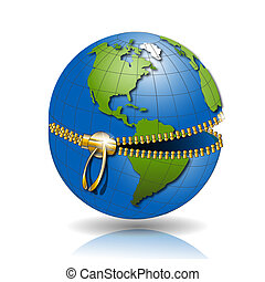 Globe on lock