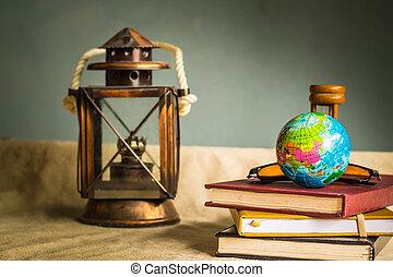 Globe on stationery