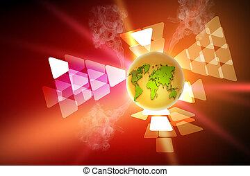 globe on the digital technology