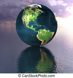 globe on the water