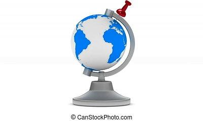 globe on white background. Isolated 3D image