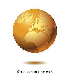 Globe on white background. Vector.