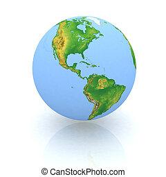 Globe on wight backgraund