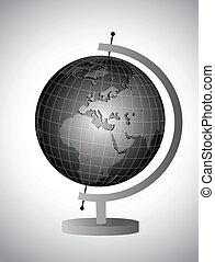 globe, op, een, stander