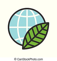 Globe or planet earth in calendar icon filled line flat design
