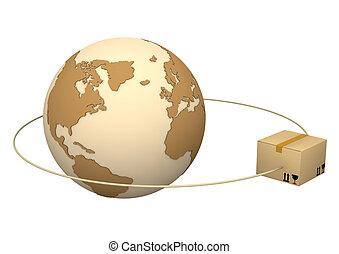 globe, paquet
