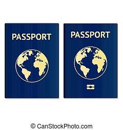 globe., passe, travel., id., émigration, vecteur, passeport, citoyen, international, document, tourisme, id, icône