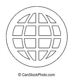 globe, pictogram
