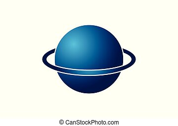 Globe, Planet Logo design inspiration Isolated On white Backgrounds