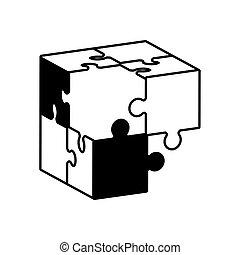 globe puzzle solution monochrome