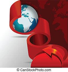 globe, résumé, vecteur, continents, fond