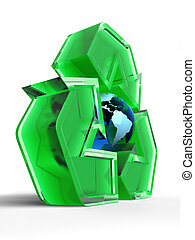 globe, recycling, meldingsbord