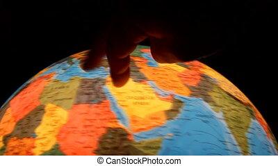 globe., reise