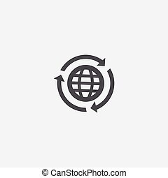 globe reload icon