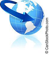 globe, richtingwijzer