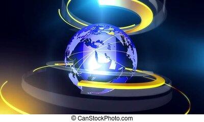 Globe ring background_blue - Virtual set studio for chroma...