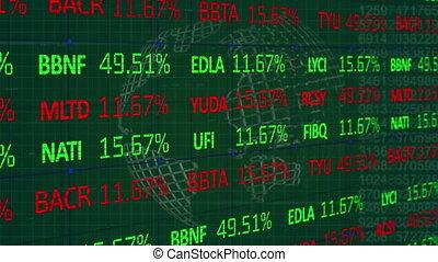globe, rotation, données, stockage, contre, marché, traitement