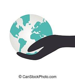 globe., segurando mão