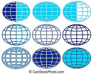 Globe - Set of the globe icons