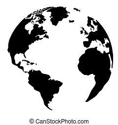 globe, silhouette