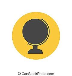 globe, silhouette, illustratie