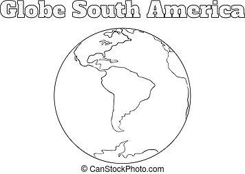 Globe South America view