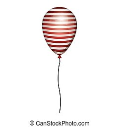 globe striped white and red with cord