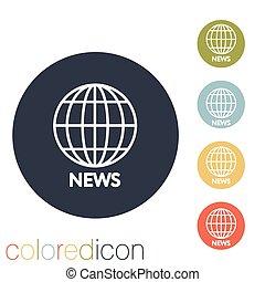 globe symbol. news.