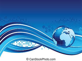 globe, technologie, achtergrond