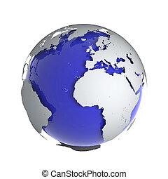 globe terre, 3d
