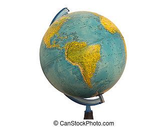 globe terre, amérique, sud, carte