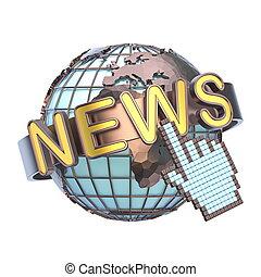 globe terre, concept, 3d, nouvelles