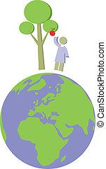 globe terre, ensemble, 012