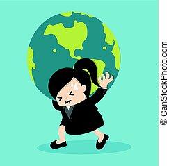 globe terre, tenue femme, business