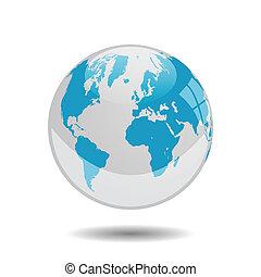 globe terre, vecteur, illustration