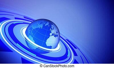 globe, text., jouw, ruimte