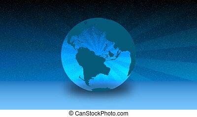 globe tournant, hd