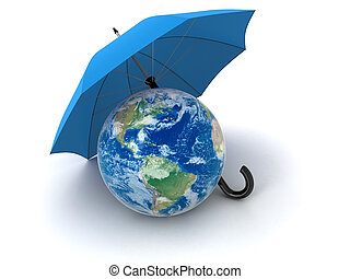 Globe under Umbrella