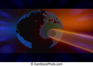 globe, univers, atmosphère