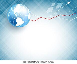 globe, vector, achtergrond