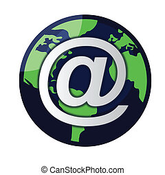 globe, vector, email, /