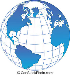 Globe vector - Globe icon with vector of the world