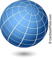 globe, vector, illustratie