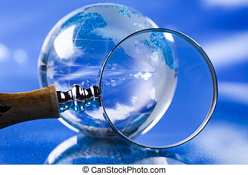 globe verre, magnifier