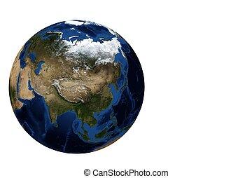 Globe view Asia