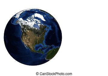 Globe view North Amercia