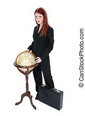 globe, vrouw zaak