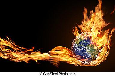 globe, vuur